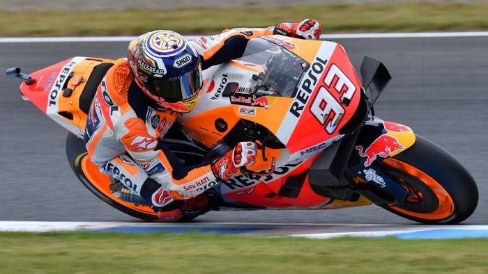 Marc Marquez bisa mematahkan rekor milik Jorge Lorenzo pada MotoGP Malaysia di akhir pekan ini (TOSHIFUMI KITAMURA / AFP)