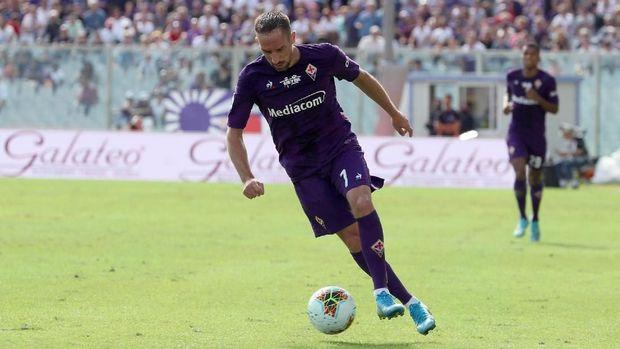 Ribery saat tampil di Liga Italia Serie A membela Fiorentina. (