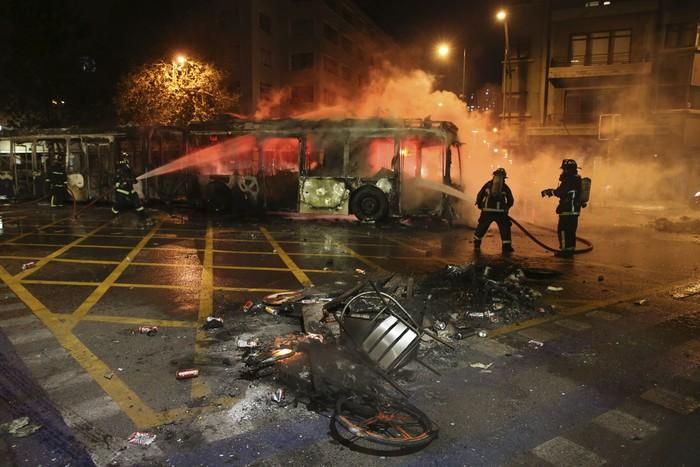 Ilustrasi kerusuhan di Chile (Foto: AP)