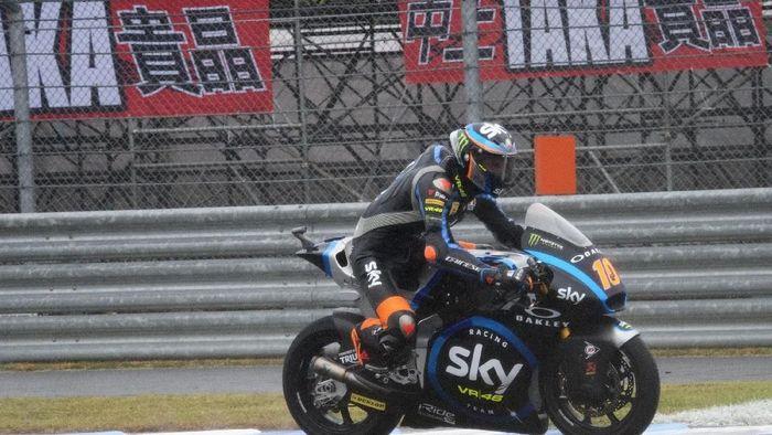 Luca Marini meraih pole position di Moto2 Jepang (Getty Images)