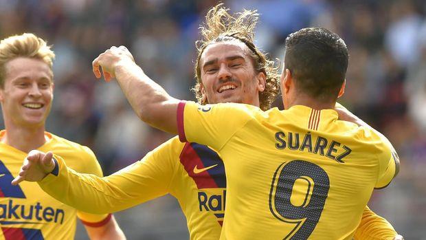 Antoine Griezmann sempat diklaim sebagai calon pengganti Luis Suarez.