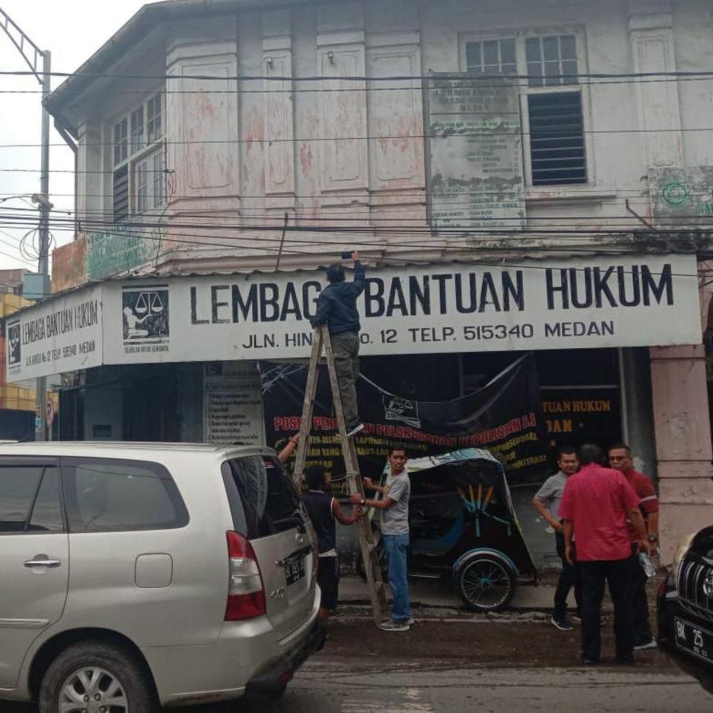 Kantornya Dilempar Molotov, LBH Medan Lapor Polisi