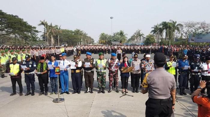 Deklarasi dukungan terhadap pelantikan aman di Bekasi. (Dok. Polres Metro Bekasi)