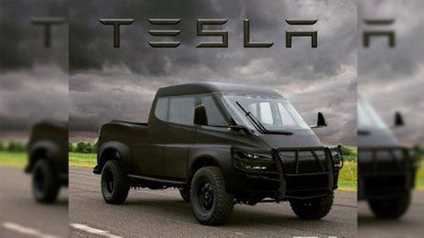 Render Truk Tesla