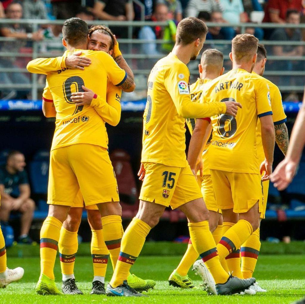 Klasemen Liga Spanyol: Barcelona Gusur Madrid dari Puncak, Granada Ketiga