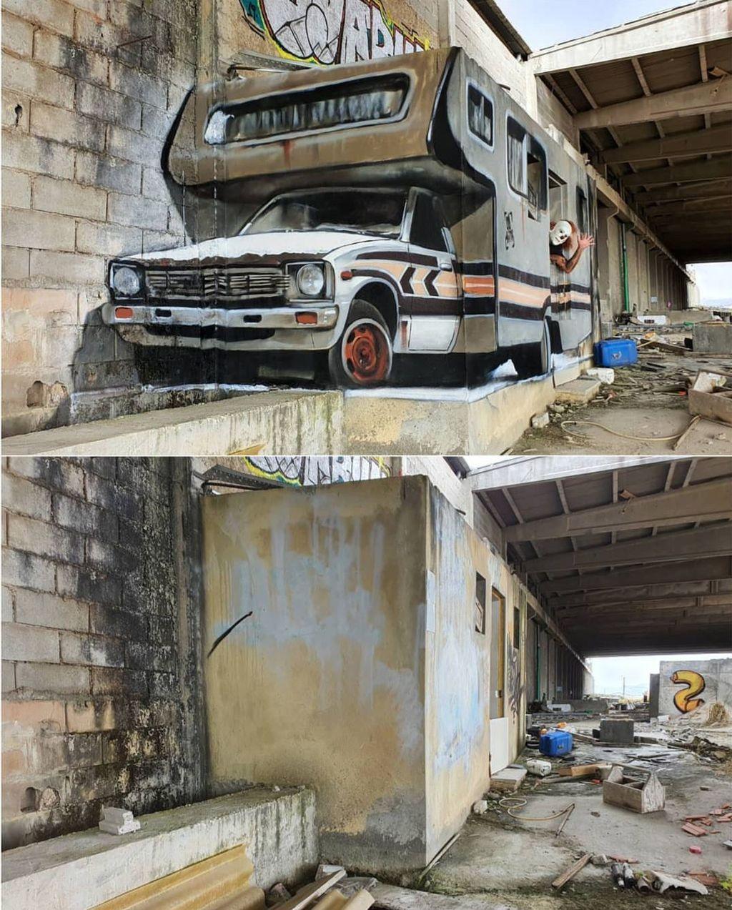 Dia adalah Sergio Odeith seorang pria asal Portugal yang sudah berkecimpung lama di dunia grafiti. (Foto: instagram/odeith)