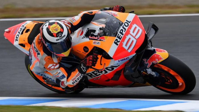 Jorge Lorenzo membuat kemajuan di hari pertama sesi MotoGP Jepang. (Foto: Toshifumi Kitamura / AFP)