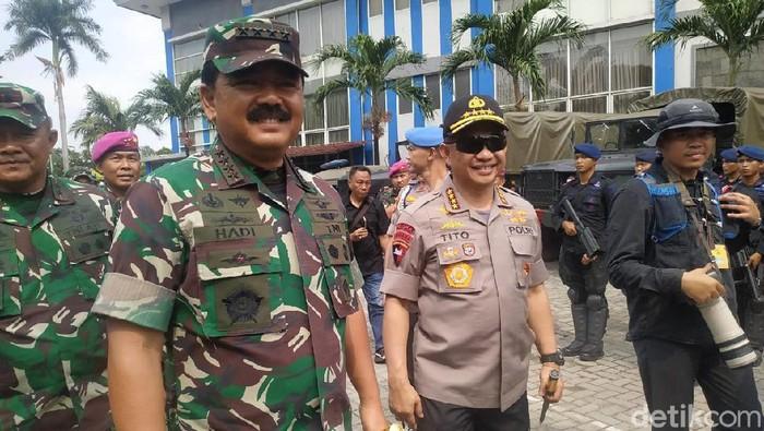 Panglima TNI Marsekal Hadi Tjahjanto dan Kapolri Jenderal Tito Karnavian (Audrey Santoso/detikcom)