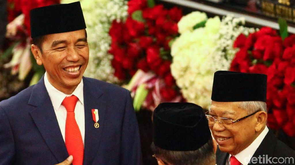 Melihat lagi Momen Bersejarah Pelantikan Jokowi-Maruf di DPR