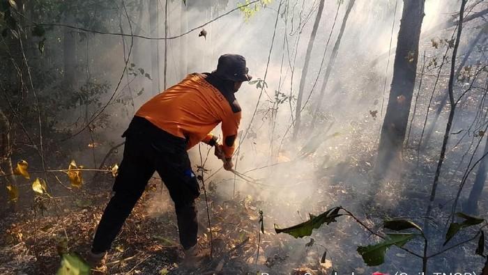 Titik api di Resor Sembalun, Gunung Rinjani. (Foto: dok. Balai TNGR)