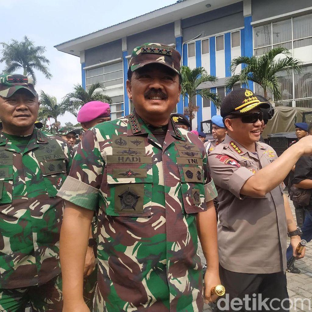 Cek Pengamanan Pelantikan Presiden, Panglima-Kapolri Keliling Sudirman-DPR