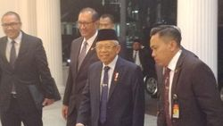 Tiba di Istana Wapres, Maruf Amin Semringah