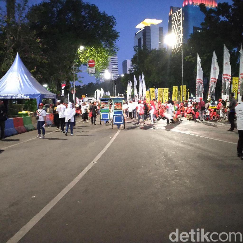 Relawan Jokowi Bubar Usai Pesta Rakyat di Patung Kuda