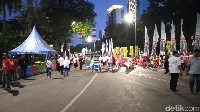 Pesta Rakyat di Patung Kuda usai. Relawan Jokowi bubar. (Sachril Agustin Berutu/detikcom)