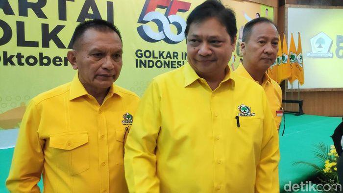Foto: Ketua Umum Partai Golkar Airlangga Hartarto. (Matius Alfons/detikcom)