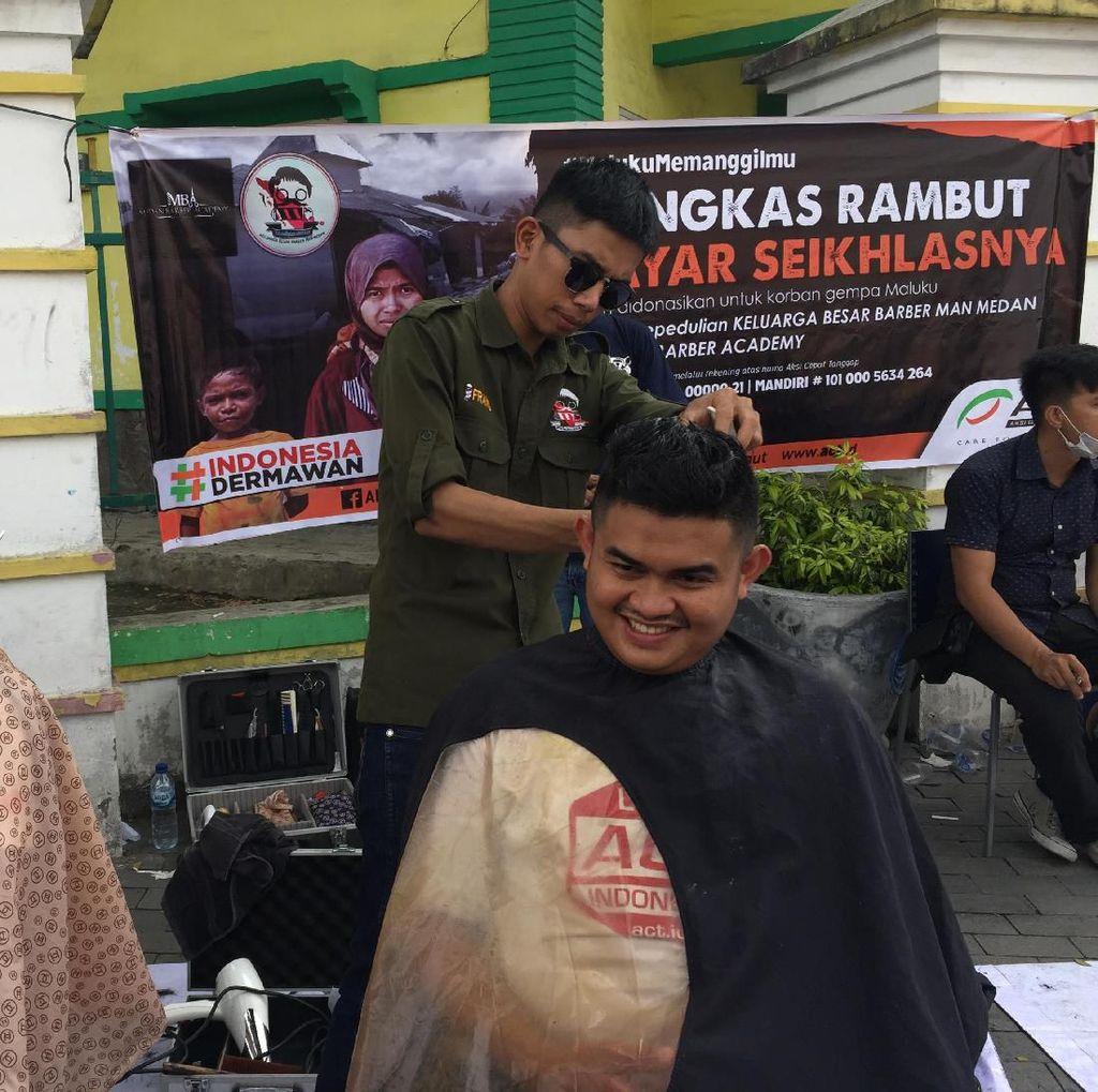 Keluarga Barber Medan Galang Dana untuk Korban Gempa Ambon