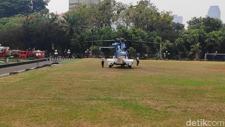 Jelang Pelantikan Jokowi, 3 Helikopter Disiagakan di Gedung DPR