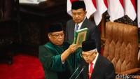 Keputusan KPU itu dibacakan oleh Ketua MPR Bambang Soesatyo, saat sidang paripurna pelantikan Presiden-Wapres 2019-2024.