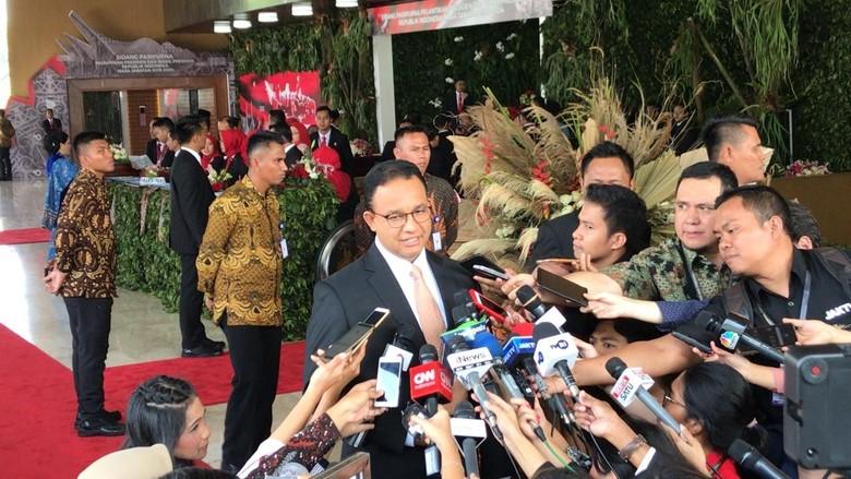 Anies Baswedan Datang ke Pelantikan Jokowi-Maruf