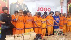 17 Pejudi dan Produsen Miras Ilegal di Surabaya Dicokok