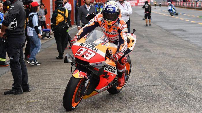 Yamaha dan Ducati dianggap Marc Marquez jadi ancaman baginya di MotoGP Malaysia (Toshifumi KITAMURA / AFP)