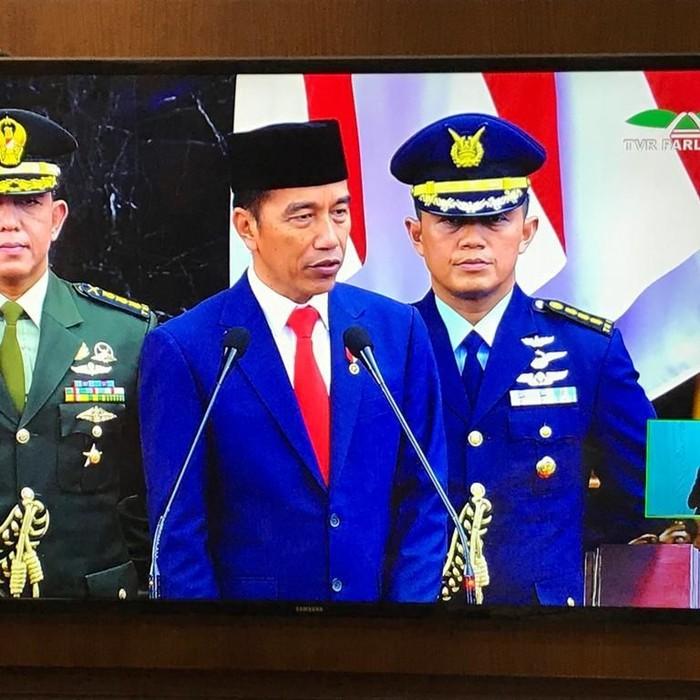 Presiden Jokowi berpidato di momen pelantikannya. (Foto: dok Istimewa)