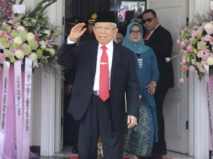Wakil Presiden Maruf Amin (ANTARA FOTO/Nova Wahyudi)