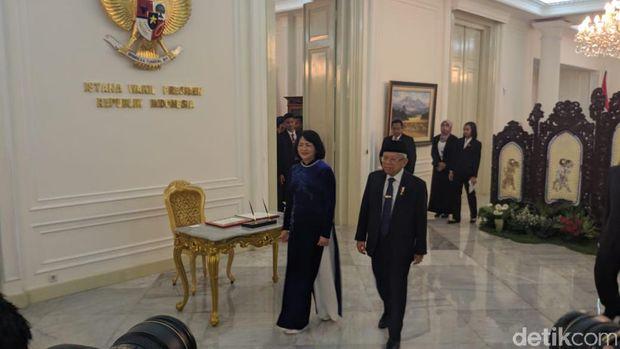 Usai Dilantik, Ma'ruf Amin Terima Wapres China dan Wapres Vietnam