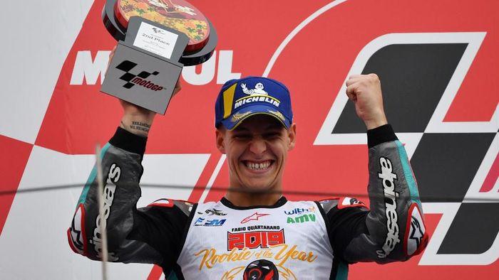 Fabio Quartararo jadi Rookie of The Year usai finis kedua di MotoGP Jepang (Foto: Toshifumi KITAMURA / AFP)