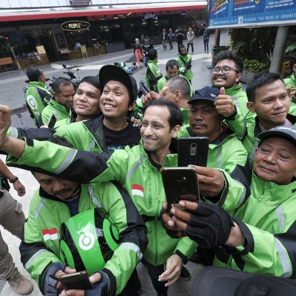 Driver Gojek Dukung Nadiem Jadi Menteri