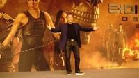 Aktor Arnold Schwarzenegger kembali berperan sebagai Carl atau T-800 dalam film tersebut. (Saras/detikcom)