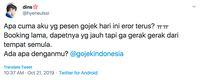 Sulit Diakses, Gojek Error Hari Ini Bergema di Twitter