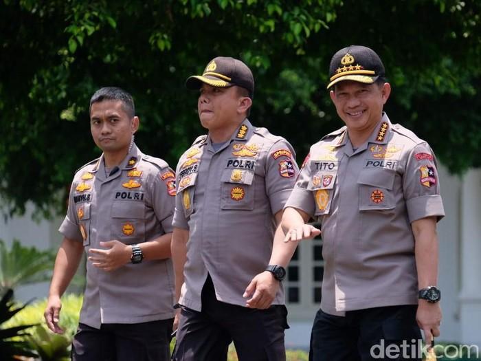 Kapolri Jenderal Tito Karnavian mendatangi Istana. (Andhika Prasetia/detikcom)