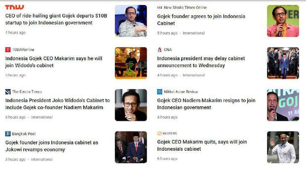 Jadi Calon Menteri, Nadiem Bikin Heboh Media Asing