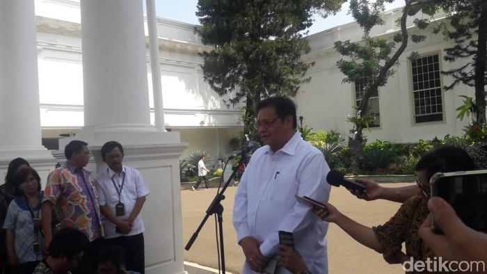 Airlangga di Istana Kepresidenan (Foto: Marlinda/detikcom)
