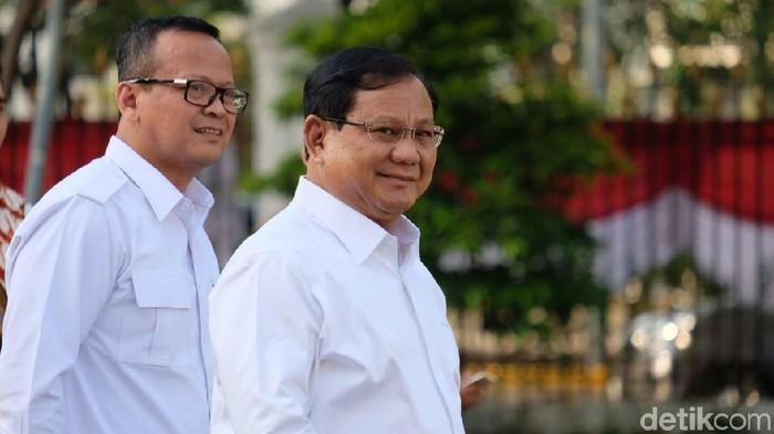 Prabowo Subianto dan Edhy Prabowo (Andhika Prasetia/detikcom)