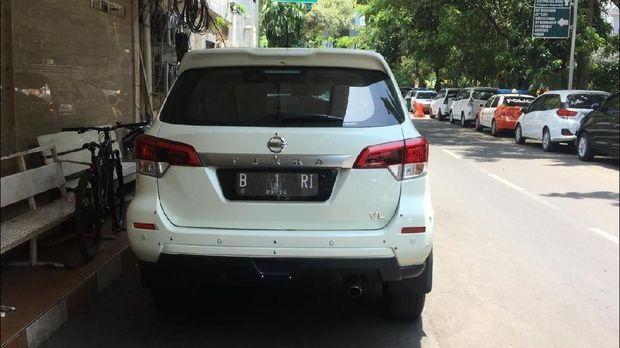 Mobil tersebut terparkir di Polda Metro Jaya
