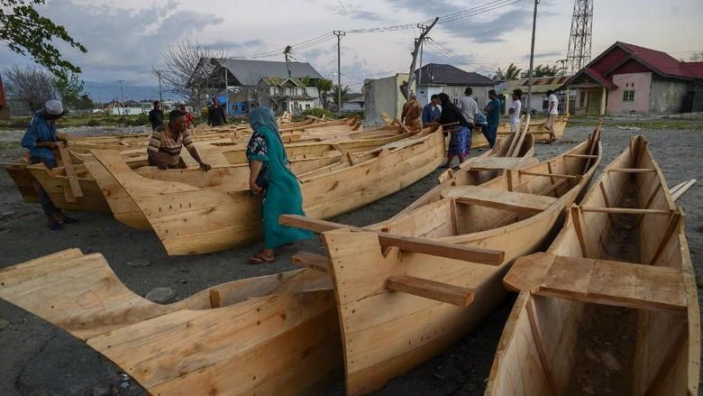 Penampakan Perahu Bantuan Prancis untuk Korban Tsunami Palu