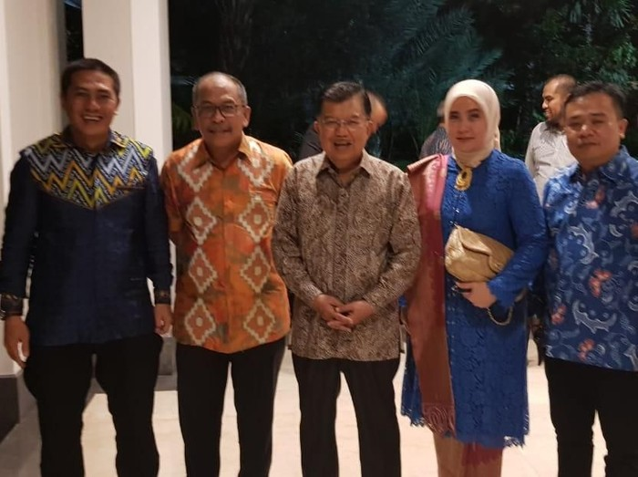 Foto: Deng Ical saat acara penyambutan JK purnatugas (dok. Ist)