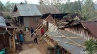 Bleduk Tengger Terjang Permukiman di Pasuruan, Atap Rumah Beterbangan