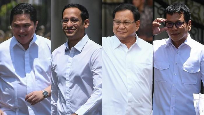 Sejumlah tokoh dipanggil ke istana dengan mengenakan kemeja warna putih. Calon menteri? (Foto: Antara Foto)