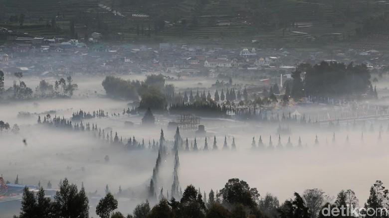 Kebakaran Hutan Kawasan Dieng Makin Meluas Terdampak Angin Kencang