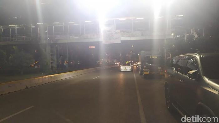 Lalin di Jalan Merdeka Barat Kembali Dibuka Usai Demo (Farih/detikcom)