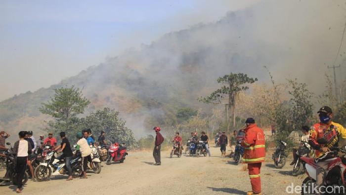 Kebakarang di Gunung Cengkik dan Sirnalanggeng Karawang. (Foto: Luthfiana Awaluddin/detikcom)