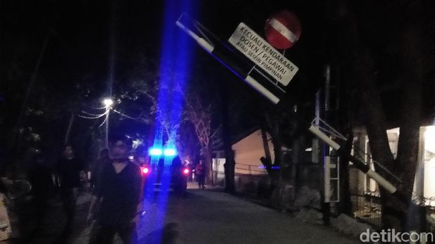 Lokasi tawuran di Kampus UNM, Makassar, Senin (21/10/2019)