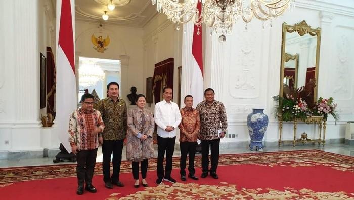 Presiden Jokowi menemui pimpinan DPR. (Dok Istimewa)