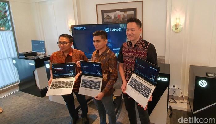 Peluncuran laptop baru HP. Foto: Adi Fida Rahman/detikinet