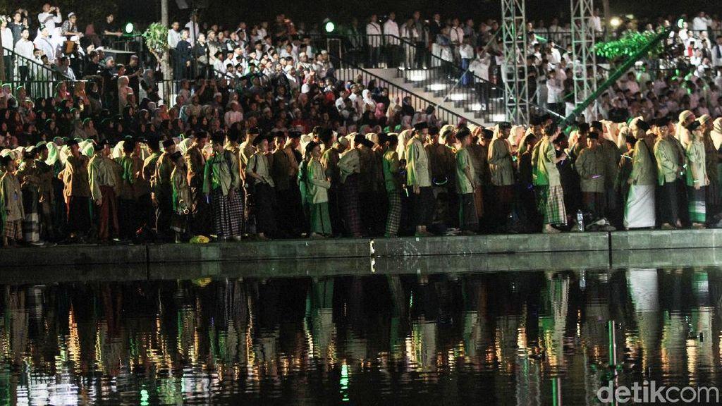 Warna-warni Hari Santri di Lapangan Banteng