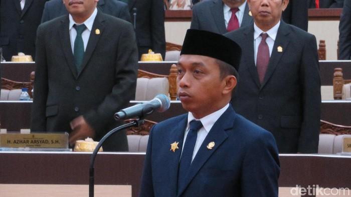 Sekretaris DPW NasDem Sulsel yang juga Ketua DPRD Sulsel Syaharuddin Alrif (Noval/detikcom)