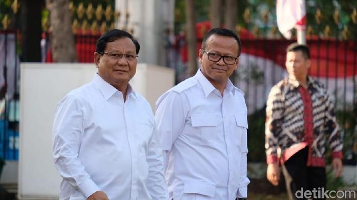 Ketum Gerindra Prabowo Subianto dan Waketum Gerindra Edhy Prabowo (Andhika Prasetia/detikcom)
